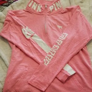 Pink PINK zip up sweat shirt